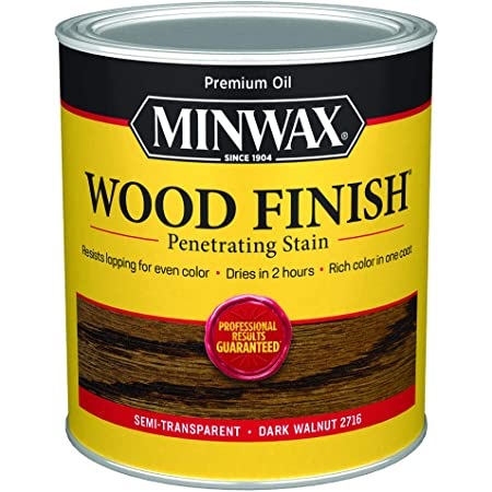 Minwax 70012444 Wood Finish Penetrating  Stain, quart, Dark Walnut