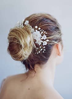Wedding Hair Combs Bride Head Ornaments Pearl Headdress Hair Accessories Bridal Rhinestone Weave Women's Jewelry