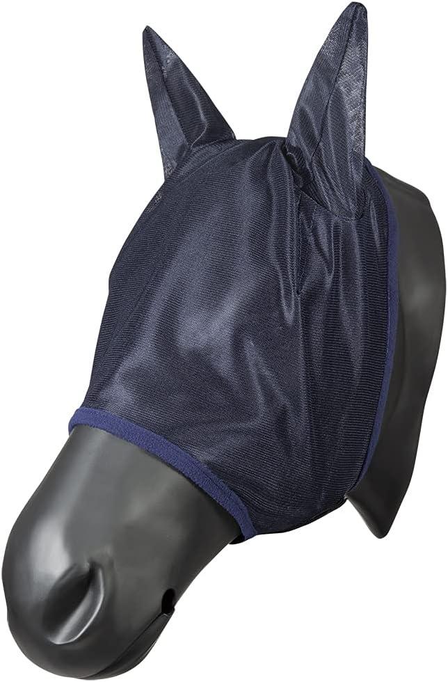 Pfiff 102144 - Máscara antimoscas con Orejas para Caballos, Color Azul