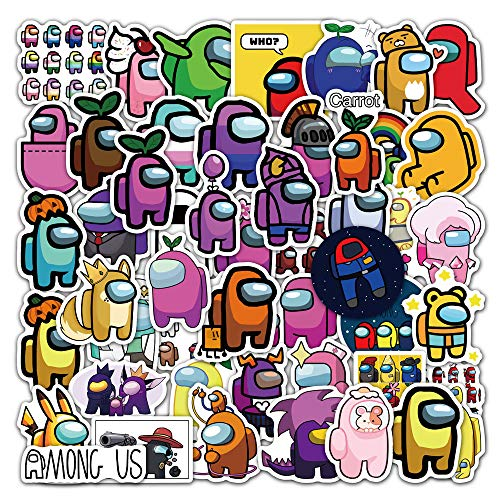 Among US Stickers (Pack of 50) Vinyl Waterproof Stickers for Kids Teenagers Adults Water Bottle Skateboard Luggage Laptop Sticker Decal