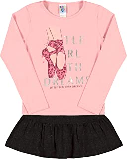 Conjuntos Rosa Chá Infantil Menina Cotton Ref:37320-872