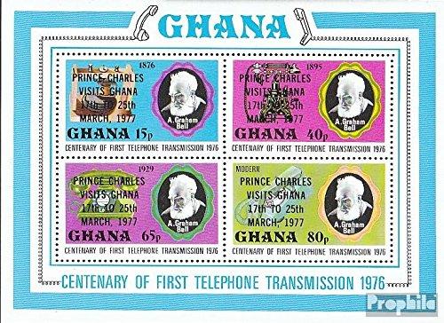Ghana mer.-no.: Block70A (complète.Edition.) 1977 Charles (Timbres pour Les collectionneurs)