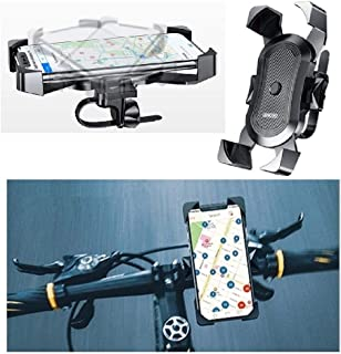 DFV mobile - Phone Holder Support for Bicycle and Motorcycle Handlebars Automatic and Swivel 360 for ZTE Nubia M2 Lite - B...