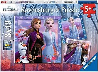 Ravensburger 50116 Puzzel Disney Frozen 2 - Drie Puzzels - 49 Stukjes - Kinderpuzzel