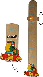Kinderzimmer Holzme/ßlatte Kind Tier Tiere aus massiven Holz Messlatte Kin.. Messbereich von 80 cm bis 150 cm // f/ür Kinder Namen Giraffe incl Unbekannt Me/ßlatte