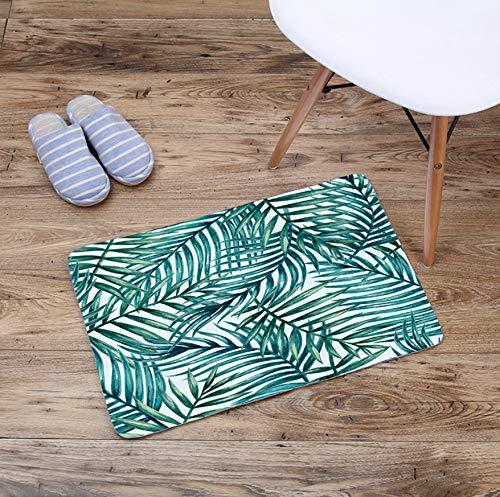 GjbCDWGLA Donkergroene krijtstrepen mode antislip badmat wasbare badmat zachte waterabsorberende badmatten 40 * 60