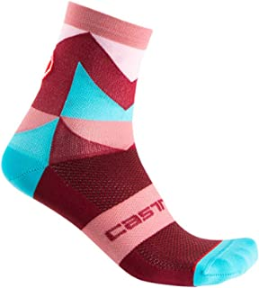Details about  /Castelli AVANTI 12 cm Tall Cuff Cycling Socks BLACK//WHITE