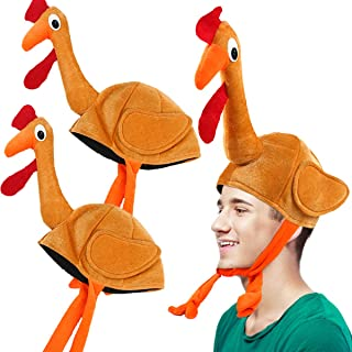 plush turkey head hat