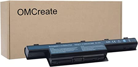 OMCreate Battery Compatible with Acer Gateway NV55C NV59C NV50A NV53 NV53A NE56R41U NE56R31U NV55C03U NV53A24U NV56R - 12 Months Warranty [Li-ion 6-Cell]