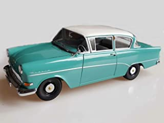 Opel Rekord P1 Torquoise Blue with White Roof 1958 Year - Executive car - 1/43 Scale Collectible Model Vehicle - 2-Door Saloon