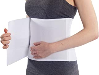 "NYOrtho Plush Elastic Abdominal Binder - Soft Latex-Free Wrap for Men and Women (30"" - 45"") 3 PANEL - 9"""