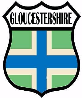 Gloucestershire Flag Vinyl Sticker