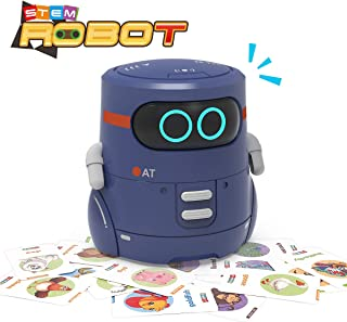 REMOKING STEM Educational Robot Toy,Dance,Sing, Guess Card Game, Speak Like You, Touch Sensing,Recorder,Interactive Kids Learning Partner,Smart Robot Gifts for Kids