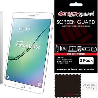 TECHGEAR [Paket med 3] Skärmskydd för Samsung Galaxy Tab S2 8,0 tum (SM-T710/SM-T715) - Ultra Clear Lcd skärmskydd skydd s...