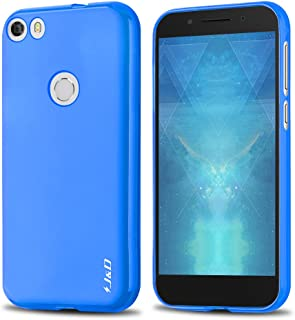 J&D Case Compatible for Idol 5 Case, [Drop Protection] [Slim Cushion] Shock Resistant Protective TPU Slim Case for Alcatel Idol 5 Bumper Case - [Not for Alcatel Idol 5S and Cricket Alcatel Idol 5]