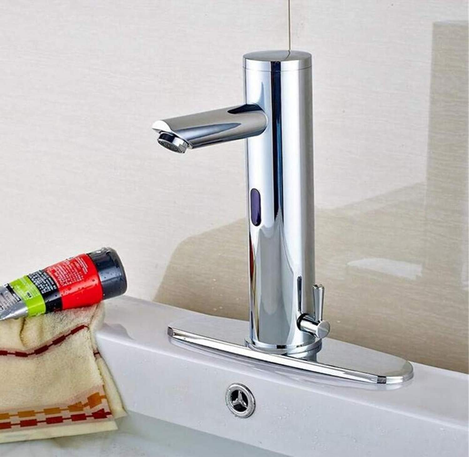 Brass Wall Faucet Chrome Brass Faucet Deck Mount Waterfall Hot Cold Mixer Tap W 8  Cover Plate
