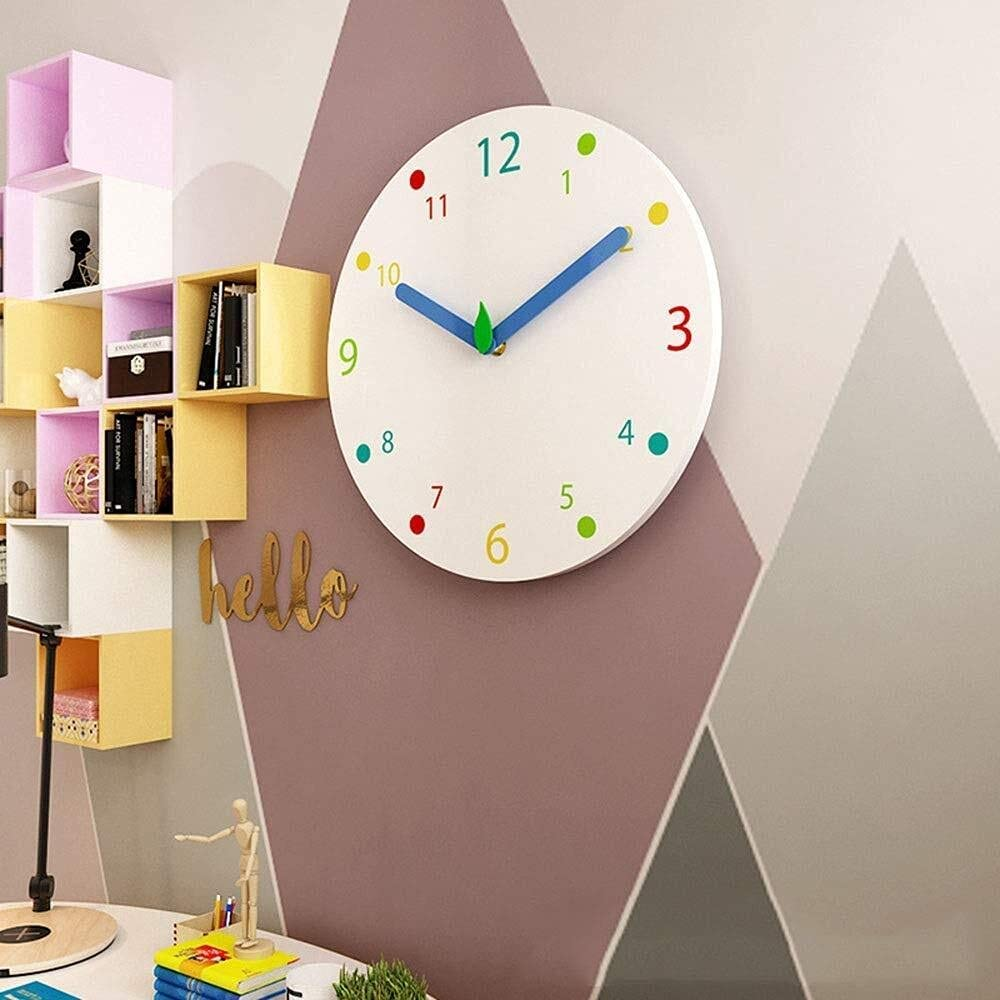 Max 59% OFF Wall Clock Fashion Creative Color Modern Wood Tucson Mall Solid S