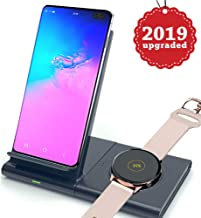 OOLYCIO Compatible with Samsung Galaxy Watch Charger&Samsung Galaxy Buds,Qi-Certified Wireless Charger Duo,Wireless Fast Charge Station Stand for Phone and Galaxy Watch 42/46mm Gear S3(No Adapter)