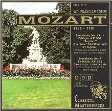 MOZART Symphony No. 41, Marriage of Figaro Overture, & Symphony No. 1