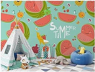 FSLUCKY 3D Wallpaper Custom Photo Modern Fruit Watermelon Illustration Childrens Room Decor 3D Wall Murals for Walls-E