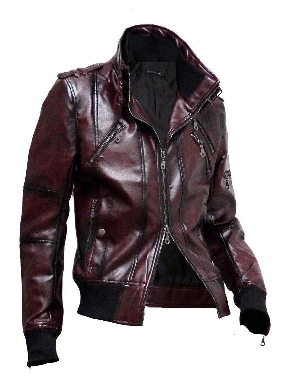 ライダースジャケット メンズ レザージャケット 革ジャン シングルライダース PUレザー スプレー加工 A270901-02
