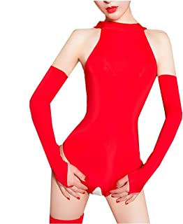 8928bf75656 Aiybao Women s See Through Sheer Mesh One Piece High Cut Romper Bodysuit  Babydoll Thong Swimsuit Teddy