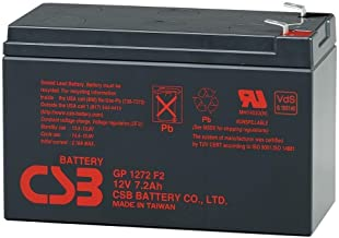 CSB GP1272F2, 12 Volt/7.2 Amp Hour Sealed Lead Acid Battery
