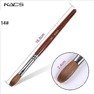 KADS Kolinsky Sable Acrylic Nail Art Brush Red Wood Pen Nail Brush for Nail Art Manicure Tool (14#)