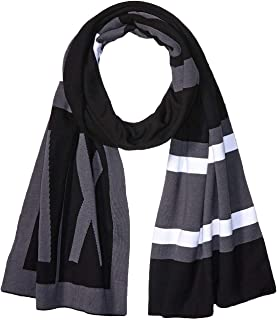 A|X Armani Exchange Men's Two-Color Scarf with A|x Logo