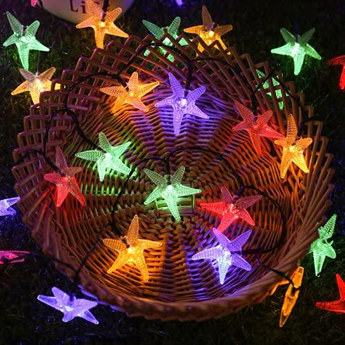 Wandskllss LED Cadena de luces solares luces de hadas exterior cadena de luz jardín luces de Navidad árbol decoración hadas luces de color 12 m 100 luces