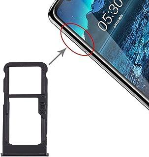 Install SIM card accessories SIM Card Tray + SIM Card Tray/Micro SD Card Tray for Nokia 5.1 Plus / X5 TA-1102 TA-1105 TA-1...