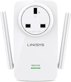 مضخم توسيع نطاق شبكة واي فاي ثنائي النطاق من لينكسيس RE6700 AC1200 - ابيض