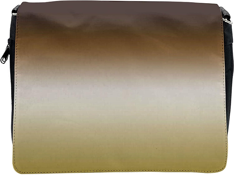 Ambesonne Ombre Cross Body Messenger Bag, Earth Tones Color Change Art, Unisex