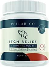 Petlab Co. Itch Relief Chews for Dogs | Anti Itch Dog Chews for Soothing Itchy Dog Skin | Turmeric Curcumin, Fatty Acids, ...