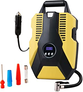 Tire Inflator Portable Air Compressor,Digital Tyre Inflator for Car Tires,Bicycles and Other Inflatables,12V DC with Emerg...