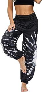 Lu's Chic Women's Thai Harem Pants Bohemian Yoga Pants Indian Loose Summer Boho Hippie Pants