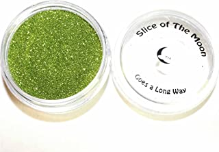 Slice Of The Moon: Willow Green Solvent Resistant Glitter Powder 20g - Cosmetic Grade for Lipstick Lip Gloss Bath Bombs Epoxy Resin Face Blush Powder Eye Pencil Dye Pigments