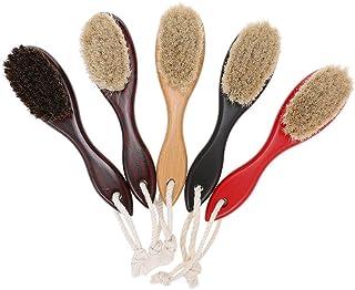 Nishore Men's Shaving Brush Barber Salon Men Facial Beard Cleaning Appliance Shave Tool Razor Brush with Wood Handle