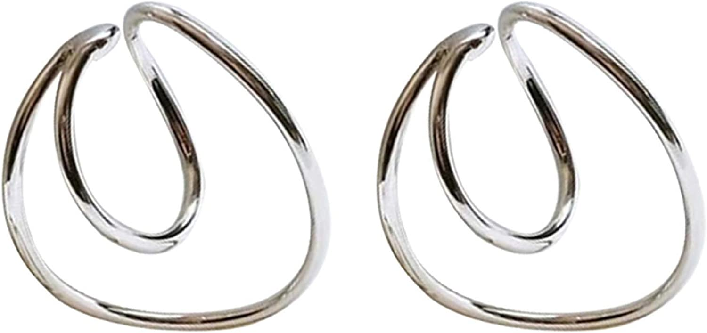 Vintage Geometric Ear Cuff Clip On Earring Cartilage Non Piercing Jewelry for Women Girls Teens