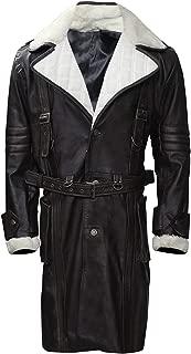 KAAZEE Brotherhood of Steel Elder Fall Maxson Battle Out Black Leather Coat