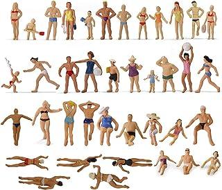 情景コレクション 人間 人形 人物 海水浴の人々 人間フィギュア塗装人 1:87 40本入り ビーチの人々 ビーチコレクション 鉄道模型 建物模型 ジオラマ DIY(P8720)