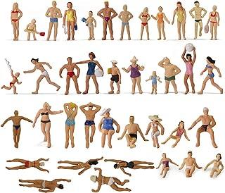 Evemodel P8720 40pcs Model Trains Swimming Figures 1:87 Scale HO Scale People Scenery Layout Landscape Miniature