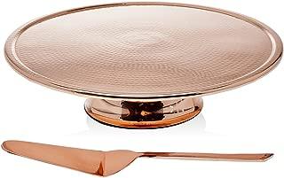 Godinger Cake Stand/Server, Copper Finish