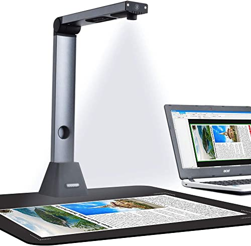 iCODIS Document Camera X3, High Definition Portable Scanner for Teacher, Not Compatible with MAC, Capture Size A3, Mu...