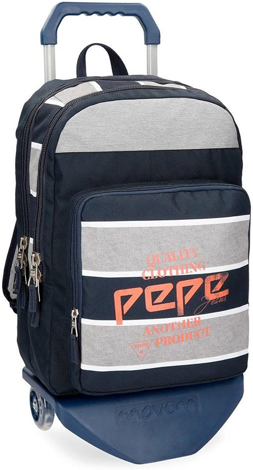 Pepe Jeans Pierre School Backpack, 44 cm, 20.46 liters, Multicolour (Multicolor)