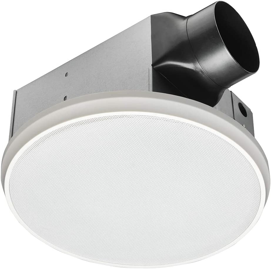 HOMEWERKS WORLDWIDE 20 20 BT Bathroom Fan Bluetooth Speaker, Ceiling  Mount Exhaust Ventilation 20.20 Sones 20 CFM, White