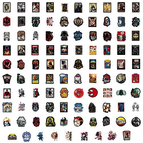 Later Pegatinas de Star Wars para maleta, portátil, guitarra, monopatín, 100 unidades