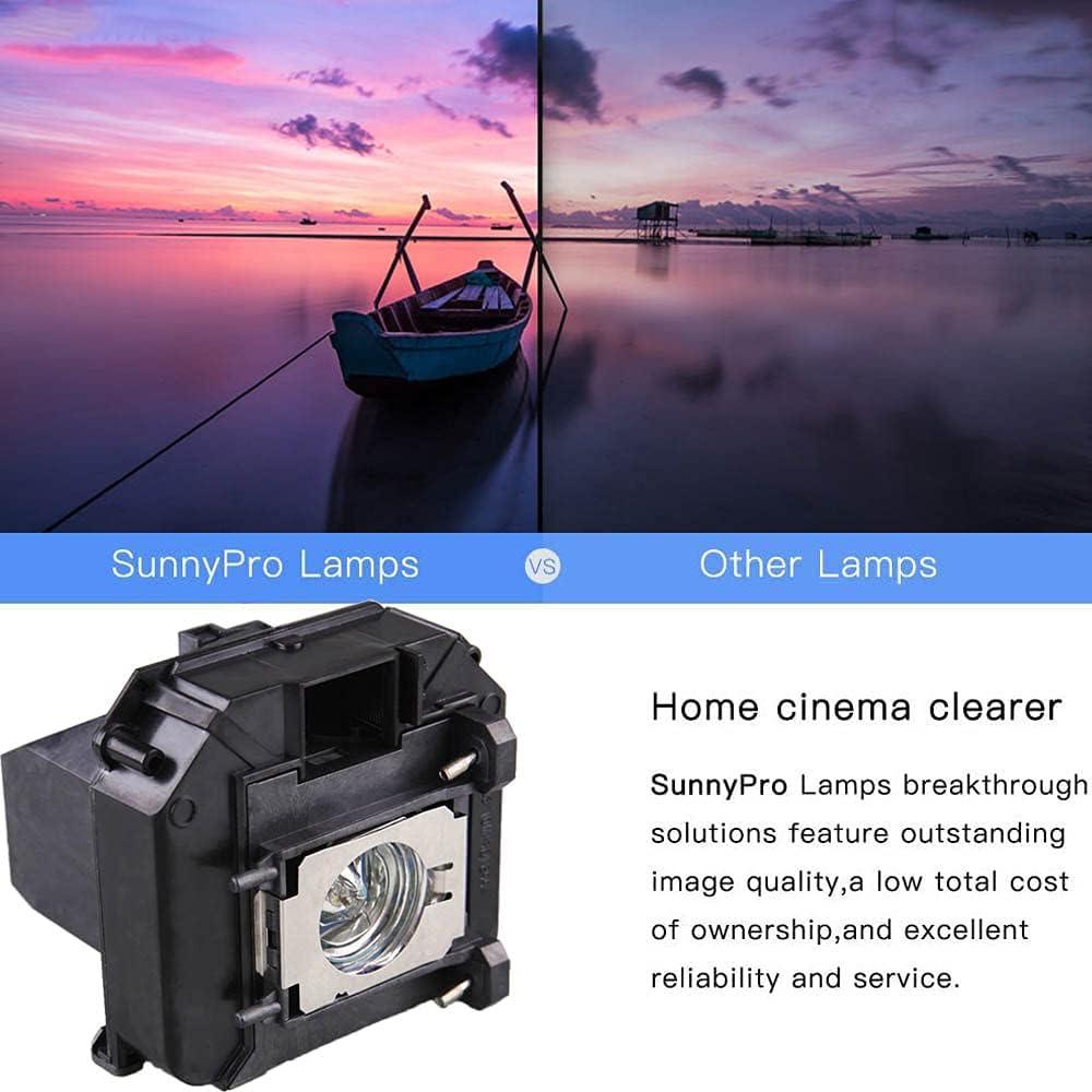 SunnyPro V13H010L60 Projector lamp ELPLP60 Compatible for Epson Brightlink 425Wi Brightlink 430i Brightlink 435Wi EB-420 EB-425W EB-900 EB-905 EB-93 EB-93e EB-95
