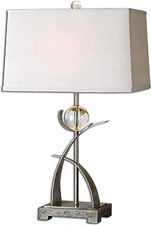 Uttermost 27746 Cortlandt Curved Metal Table Lamp, Beige