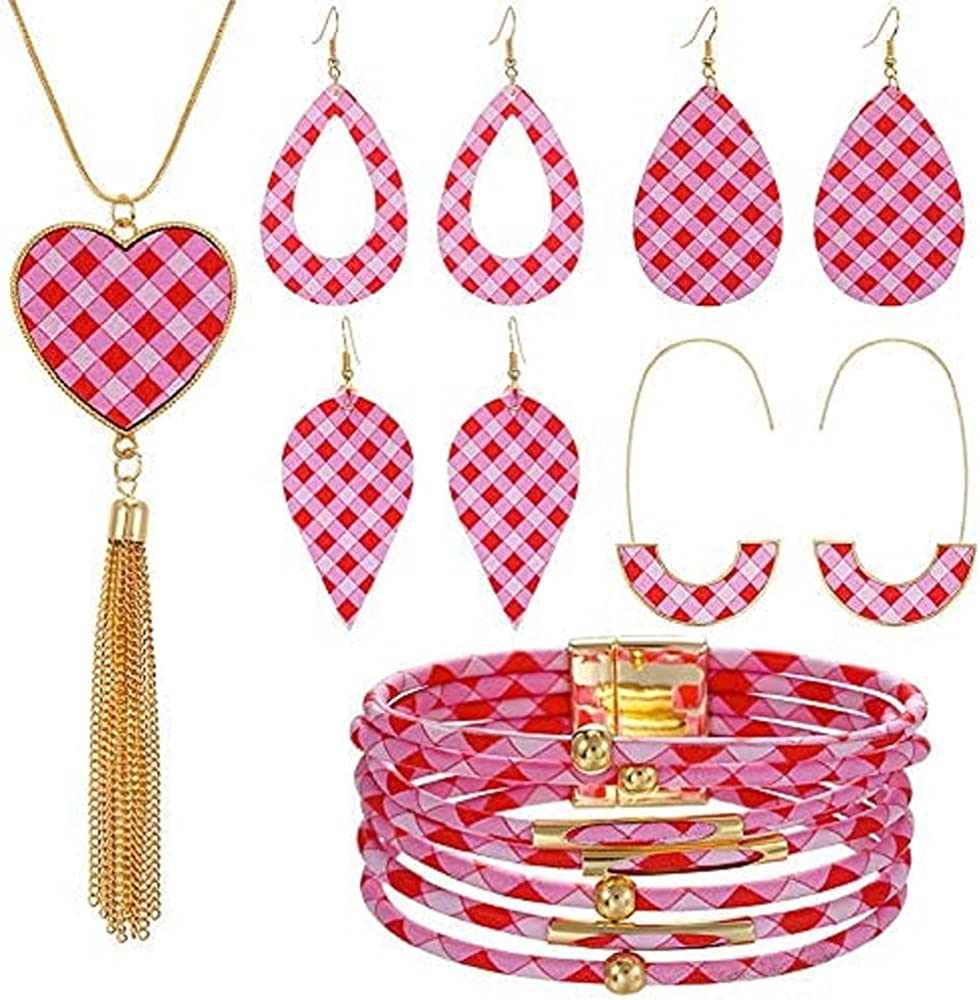 Pingyongchang 6 Pieces Women's Valentine's Day Jewelry Limited Special Genuine Free Shipping Price Printed S